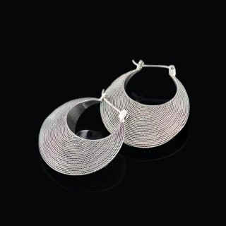 Silver earrings net 2