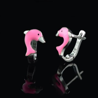 Kids earrings dolphin