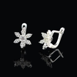 Kids silver earrings flower