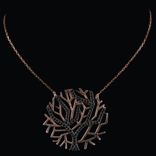 Silver necklace the Tree of life with Onyx