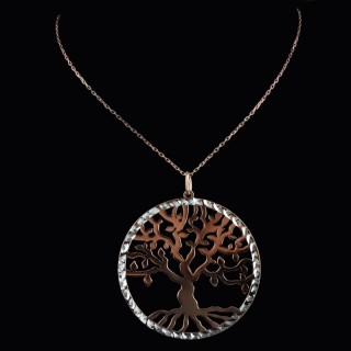 Silver necklace the Tree of life press
