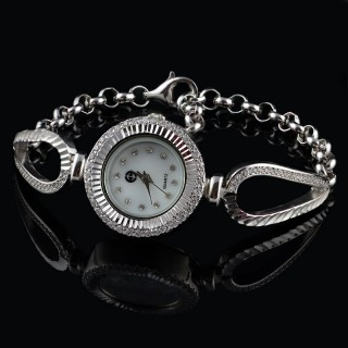 Elegant silver watch