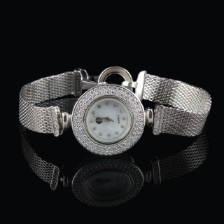 Designer silver watch