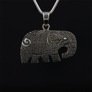 Silver medallion elephant