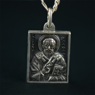 Silver icon St. Nikolay
